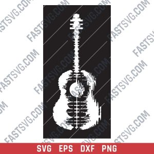 Guitar Art Vector design files - SVG DXF EPS AI CDR