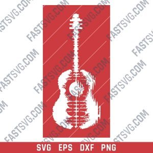 Guitar Art Vector design files - SVG DXF EPS AI CDR