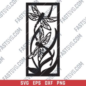 Dragonfly Wall Art Design files - SVG DXF EPS AI CDR