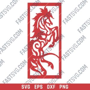 Horse Wall Art Design files - SVG DXF EPS AI CDR