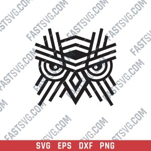 OWL Geometric Wall Art Design files - SVG DXF EPS AI CDR