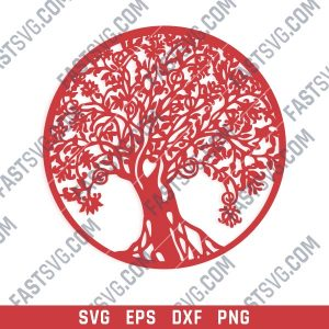 Tree Art Design files - EPS PNG SVG DXF