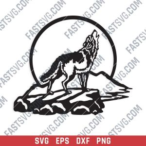 Wolf Art Vector Design file - SVG DXF EPS AI CDR