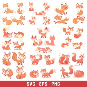 Fox Collection Art Vector Design files - SVG EPS PNG