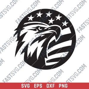 American Eagle Design files P0206 - SVG DXF EPS PNG