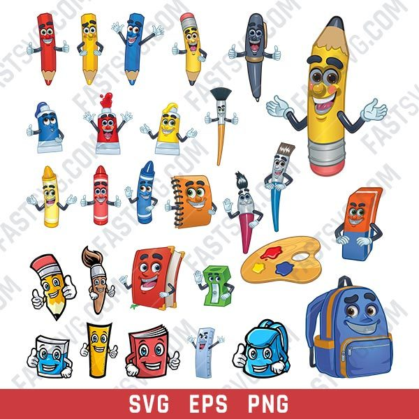 School Tools Vector Design file - SVG EPS PNG