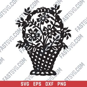 Bouquet of flowers Vector Design files - SVG DXF EPS PNG