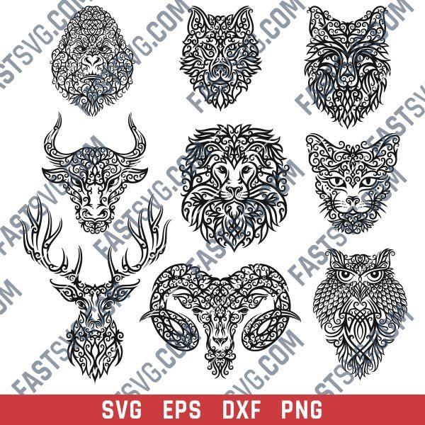 Decor Animals Design files - SVG DXF EPS PNG S057