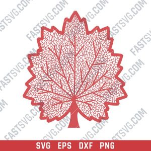 Maple leaf design files - DXF SVG EPS AI CDR