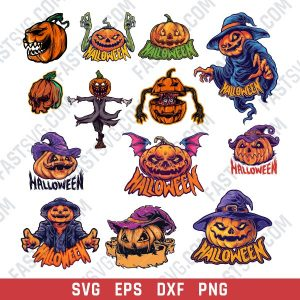 Pumpkin Scarecrow Vector Design file - SVG DXF EPS PNG