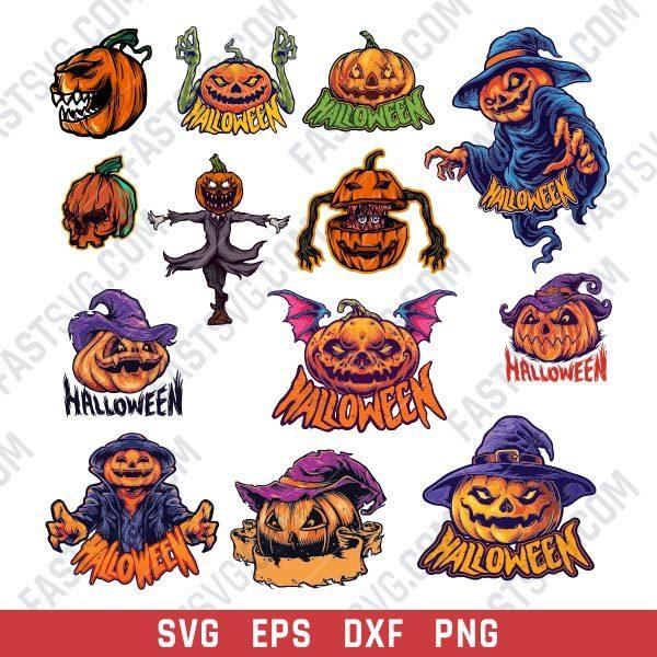 Pumpkin Scarecrow Vector Design file - SVG DXF EPS PNG
