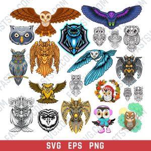 OWL set design files - SVG EPS PNG