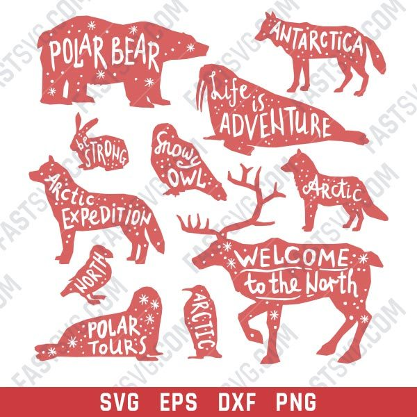 Animals quotes design files – SVG DXF EPS PNG