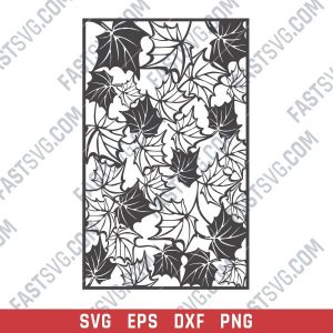 Leaf pattern decorative - SVG DXF EPS PNG