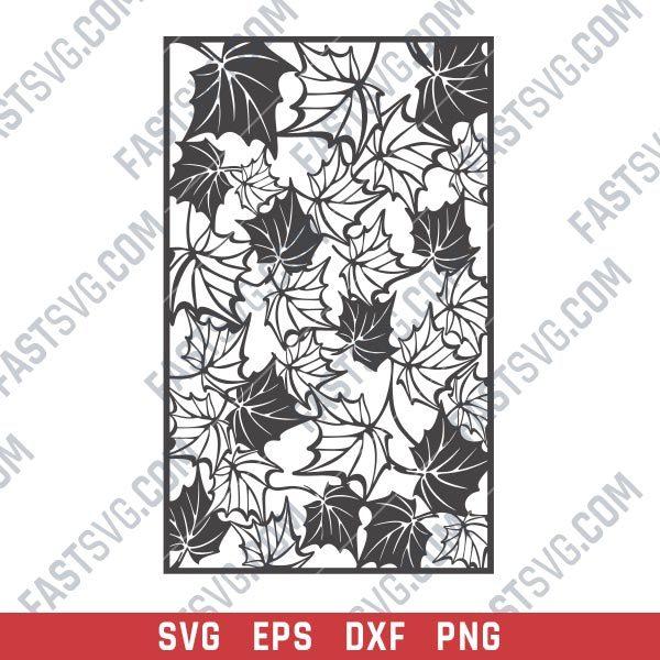 Leaf pattern decorative - SVG DXF EPS PNG