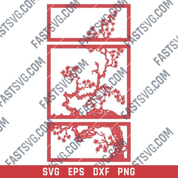 Tree wall decor design files - SVG DXF EPS PNG