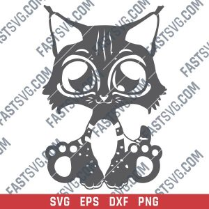 Cute cat design files – SVG DXF EPS PNG