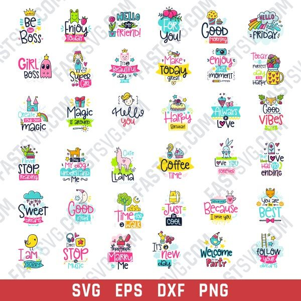 Funny creative cards design files - EPS PNG SVG DXF