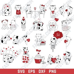 Love cats design files - EPS PNG SVG DXF