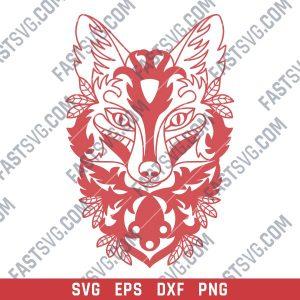Ornament fox design files - SVG DXF EPS AI CDR