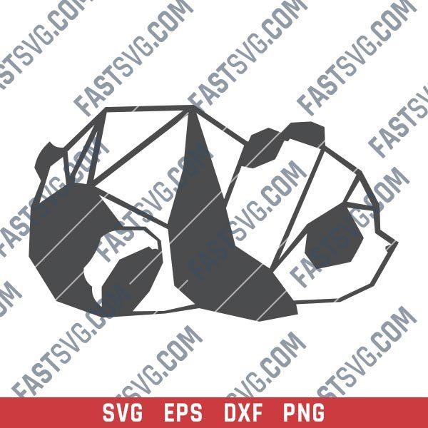 Panda design files – SVG DXF EPS PNG