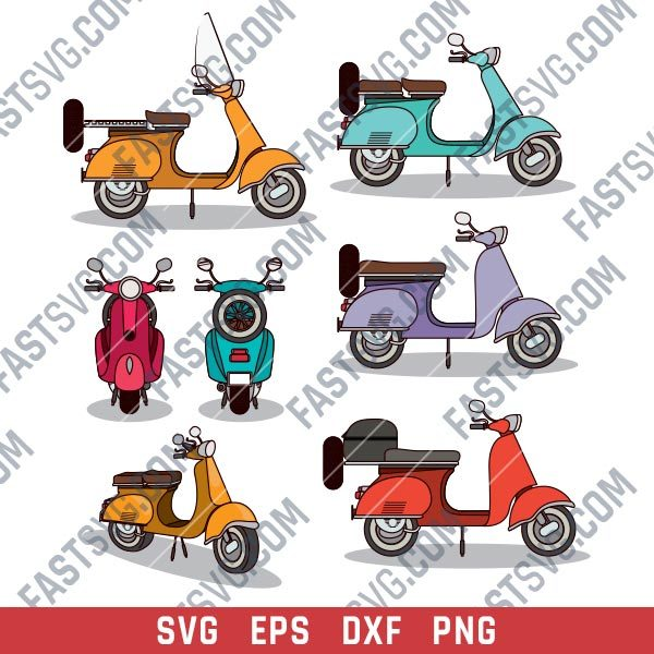 Scooter set design files - SVG DXF EPS PNG