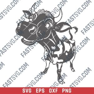 Symbol of 2021 bull design files – SVG DXF EPS PNG
