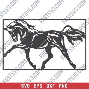 Horse wall decor design files - SVG DXF EPS PNG