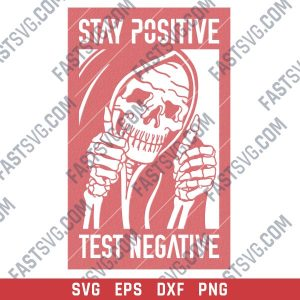 Test negative stay positive design files - SVG DXF EPS PNG