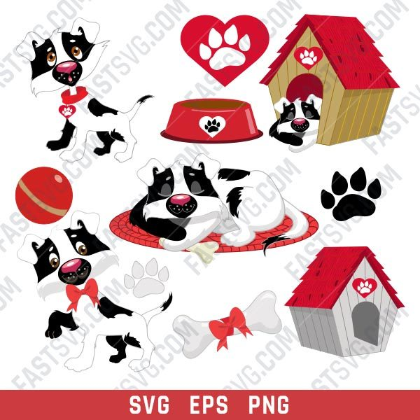 Life dog house vector design files - SVG EPS PNG