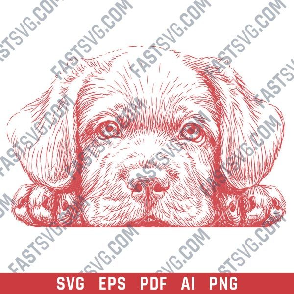 Cute dog face vector design files - SVG EPS PDF AI PNG