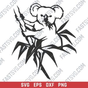 Koala vector design files - SVG DXF EPS PNG
