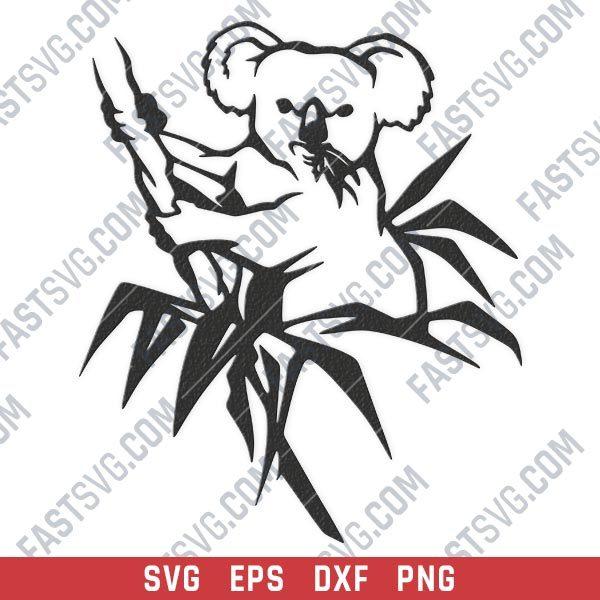Koala vector design files - SVG DXF EPS PNG