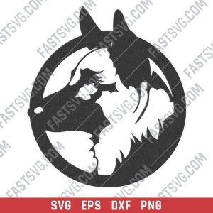 Dog german shepherd vector design files - SVG DXF EPS PNG