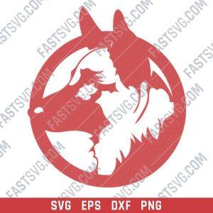 Dog german shepherd vector design files - SVG DXF EPS PNG