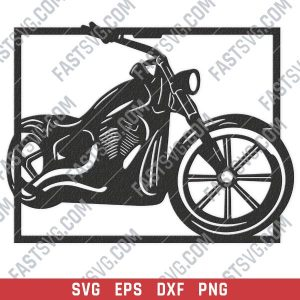 Harley davidson bike vector design files - SVG DXF EPS PNG