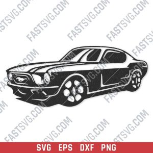 Old car vector design files - SVG DXF EPS PNG