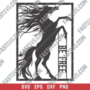 Be free horse vector design files - SVG DXF EPS PNG