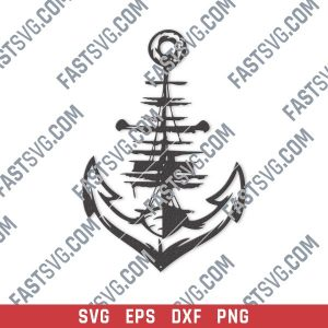 Anchor vector design files - SVG DXF EPS PNG