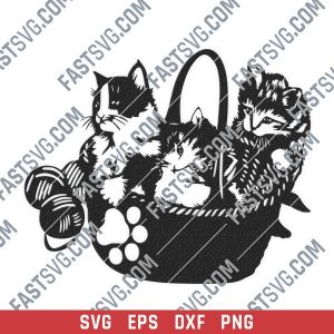 Cats vector design files - SVG DXF EPS PNG