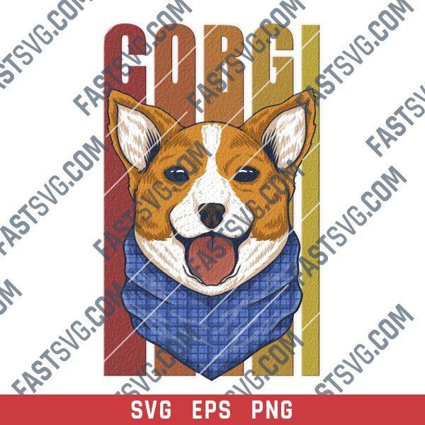 Corgi dog vector design