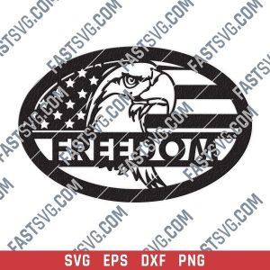 Eagle freedom design files - SVG DXF EPS PNG