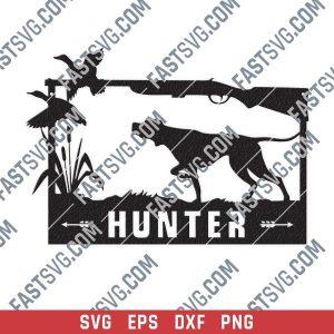 Hunter vector design files - SVG DXF EPS PNG