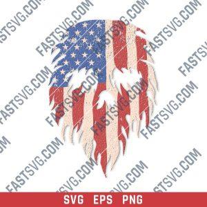 Skull made of usa flag