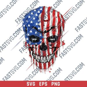 Skull with an american flag